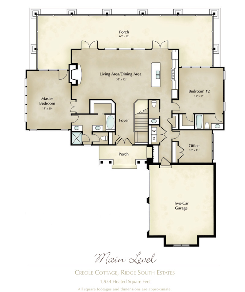 Creole cottage home in ridge south estates Creole cottage house plans